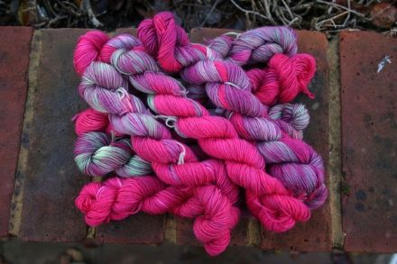 Limited Edition Merino/Nylon Mini Skein Mystic Trees